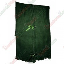 Fleece Button Tree Skirt Green