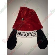 Snoopy Ear Santa Hat