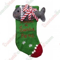 Cat I Believe in Santa Paws Stocking