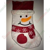 Felt Snowman Stocking with Plush Brim