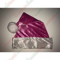 Metallic Pink Fleece Santa Hat