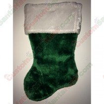 Green Plush Stocking