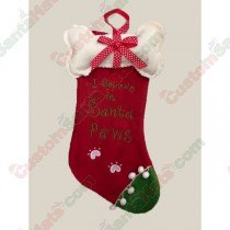 Dog I Believe in Santa Paws Stocking