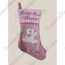 Baby 1st Christmas Pink Stocking