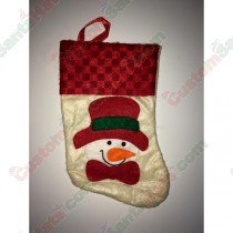 Mini Snowman with Red Hat Stocking