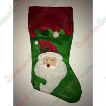 Felt Green Santa Stocking