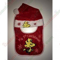 Snoopy Baby 1st Christmas Bib and Hat Set