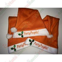 Double Fleece Carrot Orange Santa Hat