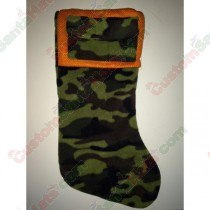 Camo and Orange Stocking