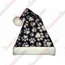 Black Dog Paws Santa Hat