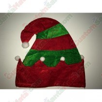 Red & Green Fleece Elf Hat