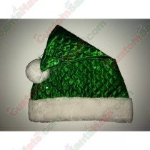 Green Diamond Sequin Santa Hat