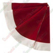 "48"" Red Plush Fluffy Tree Skirt"