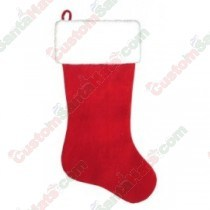 2 Foot Large Plush Stocking Red