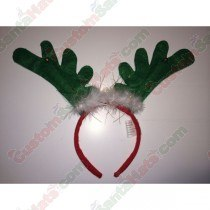 Deer Antler Headband Green