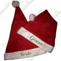 Bride & Groom Santa Hat Combo