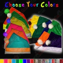 Choose Your Colors Fleece Santa Hat