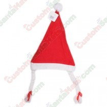 Economy Felt Santa Hat With Braids