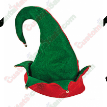 Elf Hat Double Layer Green & Red