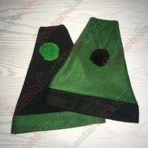 Dark Green and Black Santa Hat