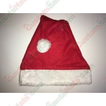 Fleece Santa Hat Plush Brim