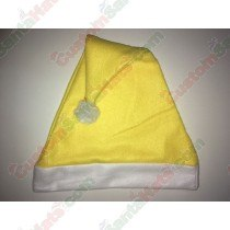 Fleece Yellow Santa Hat SSF