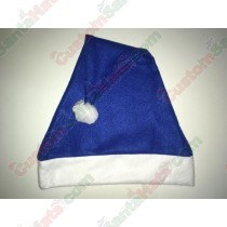 Fleece Blue Santa Hat SSF