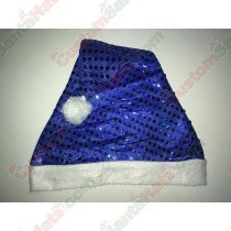 Dark Blue Santa Hat Sequin