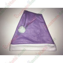 Fleece Light Purple Santa Hat SSF