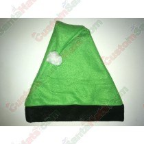 Green and Black Santa Hat
