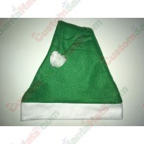 Fleece Green Santa Hat SSF