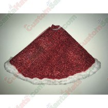 Red Sparkle 18inch Tree Skirt