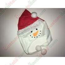 Snowman Shaped Santa Hat Silver Sequin