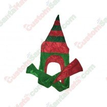 3 Foot Elf Hat Green & Red