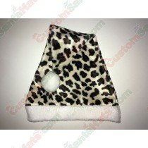 Cheetah Plush Santa Hat