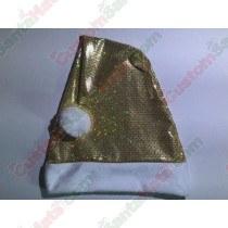 Premium Gold Sequin Santa Hat