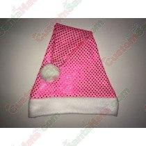 Hot Pink Sequin Santa Hat