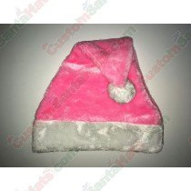 Pink Plush Santa Hat