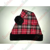 Red & Black Plaid Santa Hat