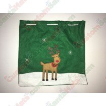 Deer Gift Bag Green