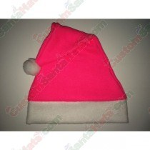 Fleece Hot Pink Santa Hat