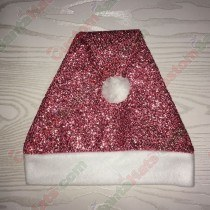 Pink Sparkle Santa Hat