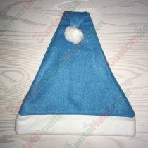 Fleece Light Blue Santa Hat SSF