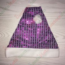 Purple Sequin Santa Hat