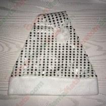 Silver Sequin Santa Hat
