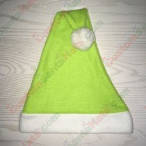 Lime Green Santa Hat