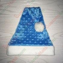 Blue Dot Santa Hat