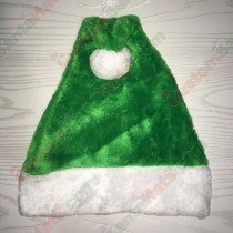 Light Green Plush Santa Hat