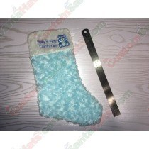 Baby 1st Christmas Blue Stocking