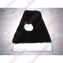 Black Plush Santa Hat